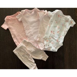 Just One You by Carters set of 4 onesies & pants